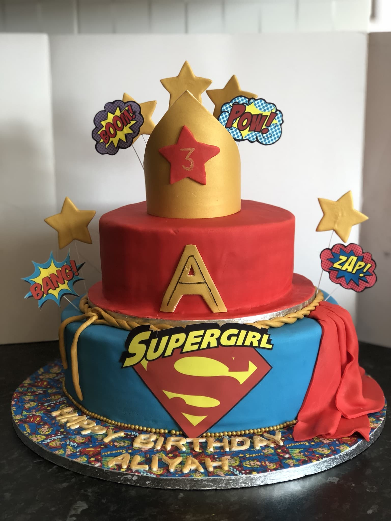 Incredible Supergirl Cake By Tempting Sweet Treats Find The Cake Funny Birthday Cards Online Elaedamsfinfo