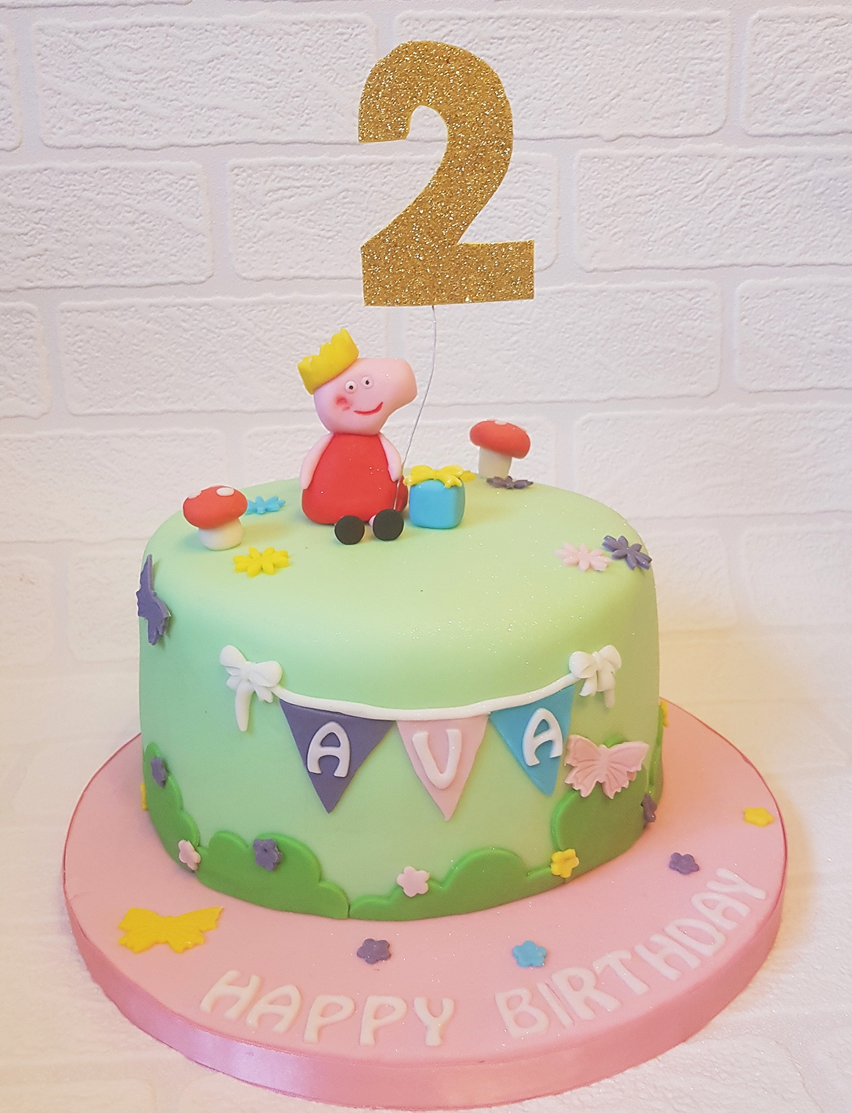 Brilliant Peppa Pig Birthday Cake By Emily Bakes Cakes Find The Cake Personalised Birthday Cards Paralily Jamesorg